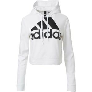 [Adidas] Cropped French Terry Hoodie